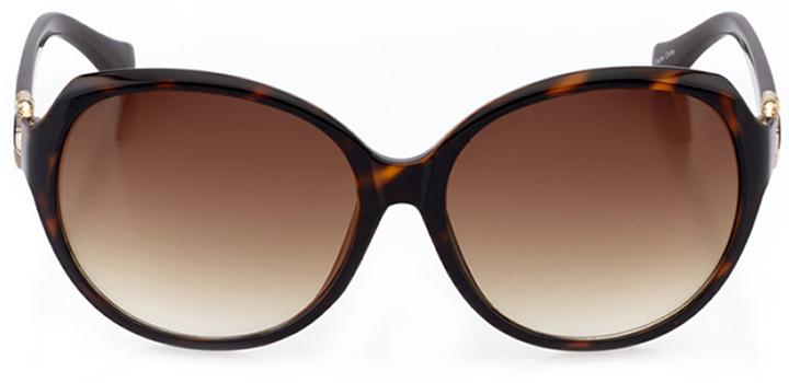 saint-malo: women's oval sunglasses in tortoise - front view
