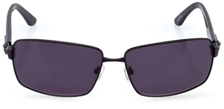 patras: men's rectangle sunglasses in black - front view