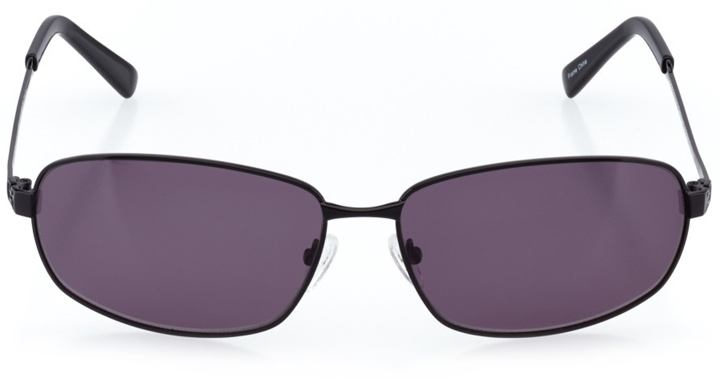 varanisi: men's rectangle sunglasses in black - front view