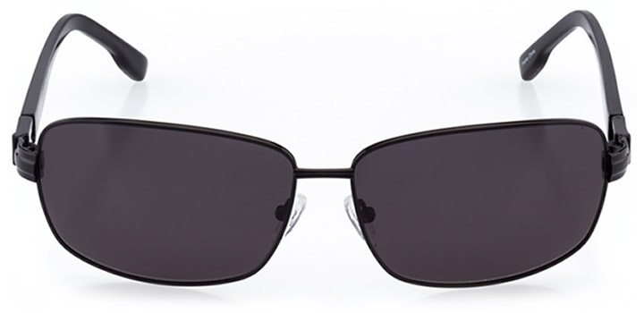 aberdeen: men's rectangle sunglasses in black - front view