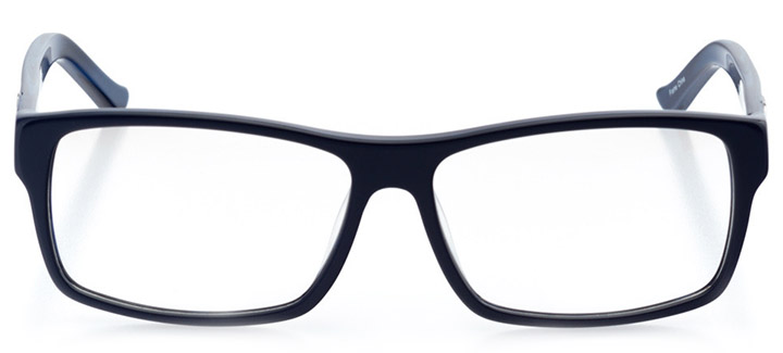 lincoln: men's square eyeglasses in blue - front view
