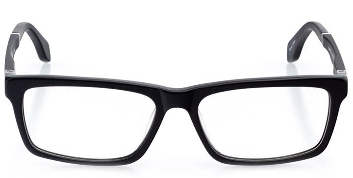 ottowa: men's rectangle eyeglasses in black - front view