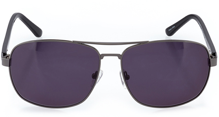bakersfield: men's rectangle sunglasses in gray - front view