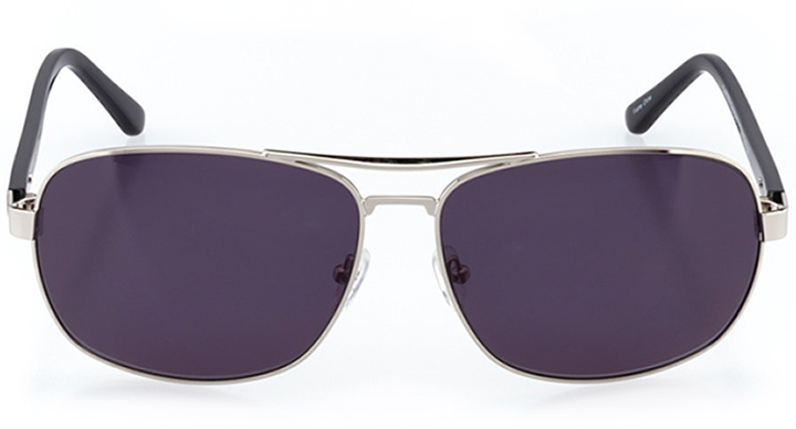 bakersfield: men's rectangle sunglasses in silver - front view