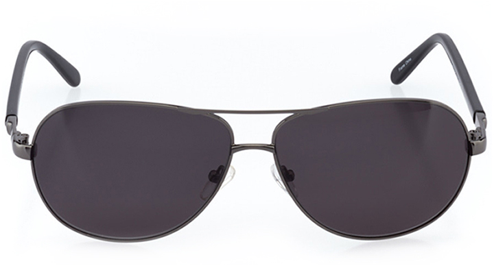 san bernardino: men's aviator sunglasses in gray - front view