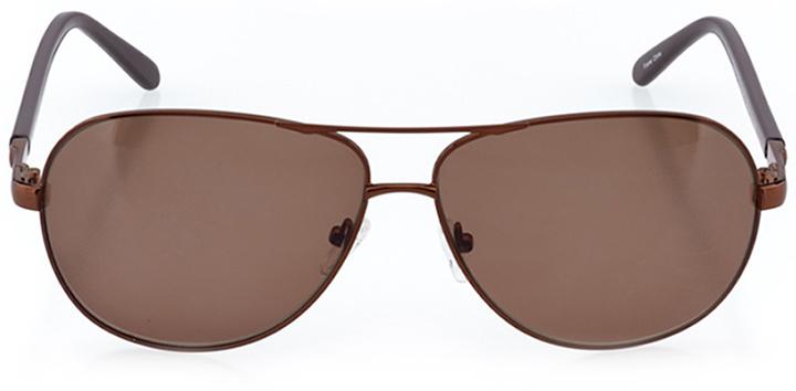 san bernardino: men's aviator sunglasses in brown - front view