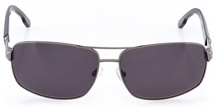 narvik: men's rectangle sunglasses in gray - front view