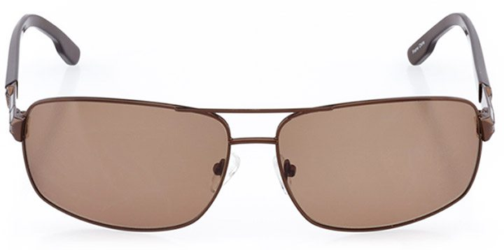narvik: men's rectangle sunglasses in brown - front view