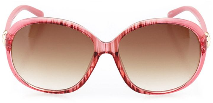 avola: women's oval sunglasses in pink - front view