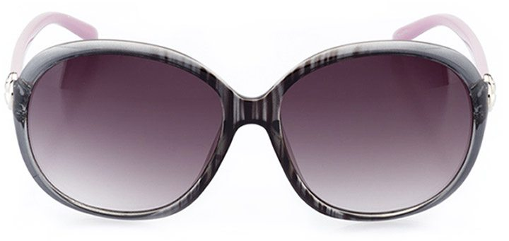avola: women's oval sunglasses in gray - front view