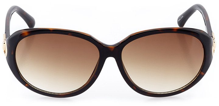 lucca: women's oval sunglasses in tortoise - front view