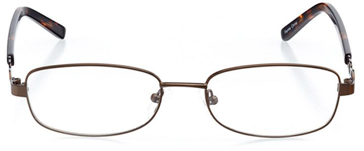 santa isabel: women's rectangle eyeglasses in brown - front view