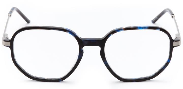 paris: women's rectangle sunglasses in gold - front view