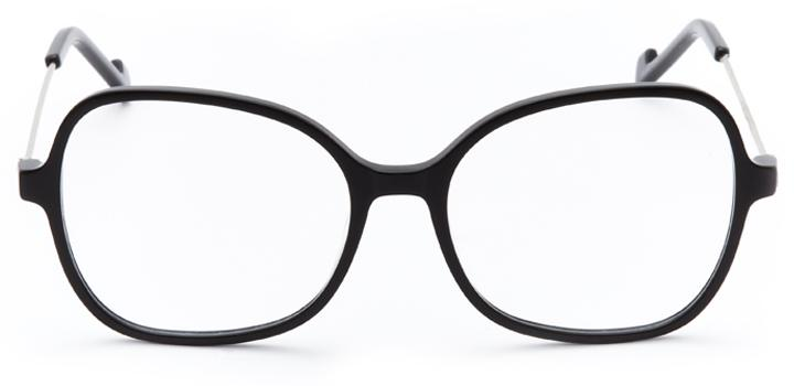 mulholland: women's butterfly eyeglasses in black - front view