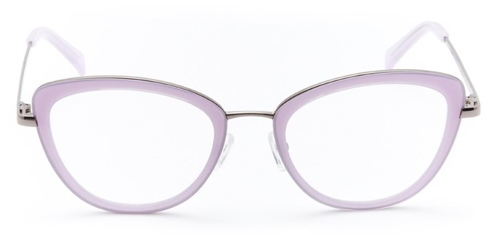 saint-malo: women's cat eye eyeglasses in purple - front view