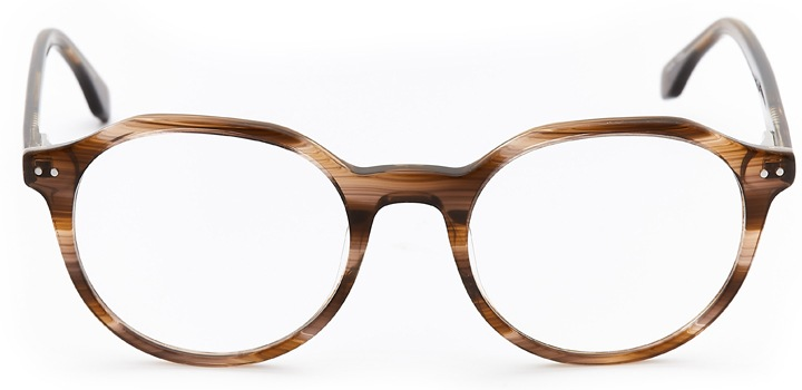 colwyn bay: geometric eyeglasses in brown - front view