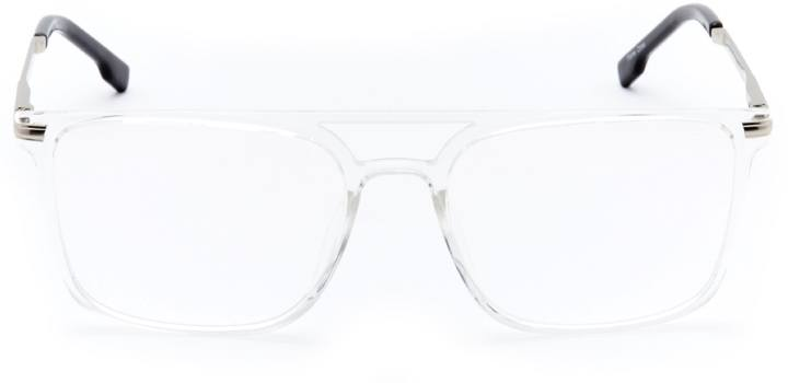 whitland: men's square eyeglasses in crystal - front view
