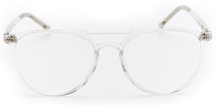 tenby: aviator eyeglasses in crystal - front view