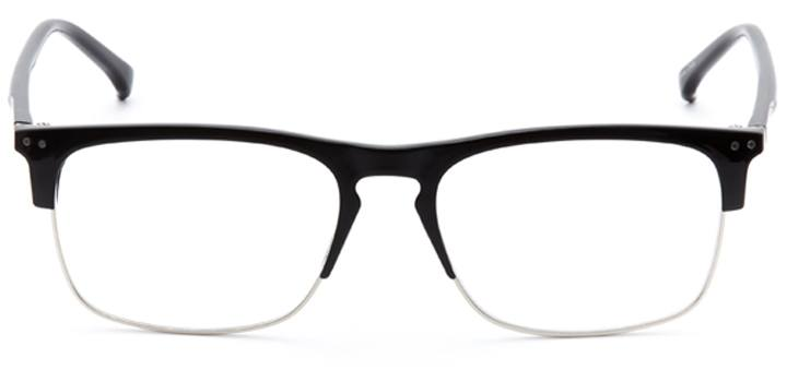 talbot green: men's browline eyeglasses in black - front view