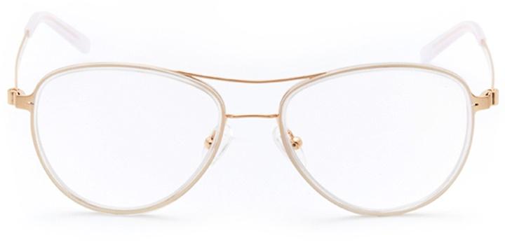 bayside: women's aviator eyeglasses in white - front view