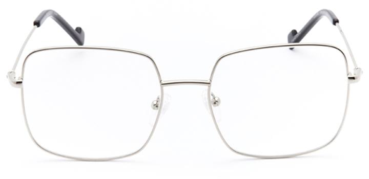 vizcaya: women's square eyeglasses in silver - front view
