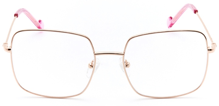 vizcaya: women's square eyeglasses in pink - front view