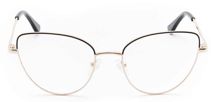 mulhouse: women's cat eye eyeglasses in black - front view