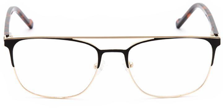 space needle: men's browline eyeglasses in black - front view