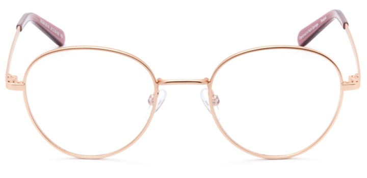 lyon: women's round eyeglasses in pink - front view