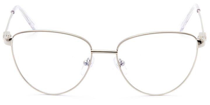 dax: women's cat eye eyeglasses in silver - front view