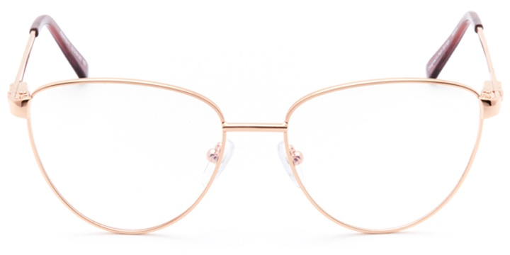 dax: women's cat eye eyeglasses in pink - front view