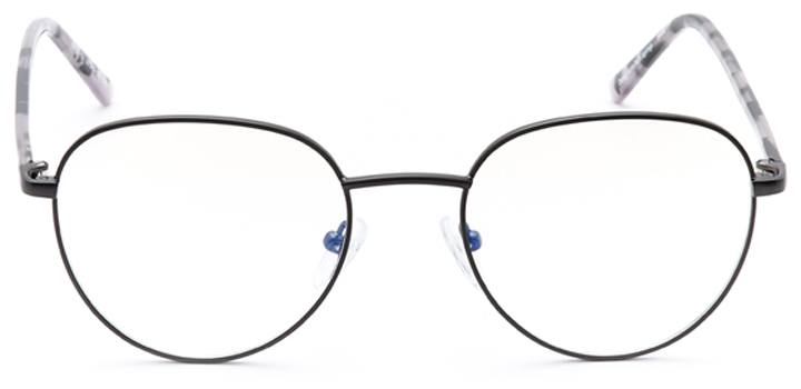 kidwelly: round eyeglasses in gray - front view
