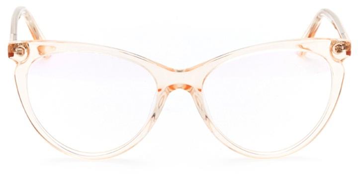pau: women's cat eye eyeglasses in pink - front view
