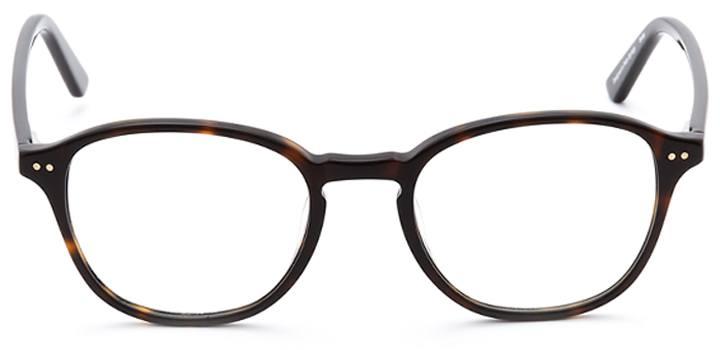 knighton: round eyeglasses in tortoise - front view