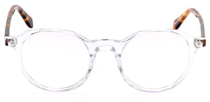 newbridge: round eyeglasses in crystal - front view