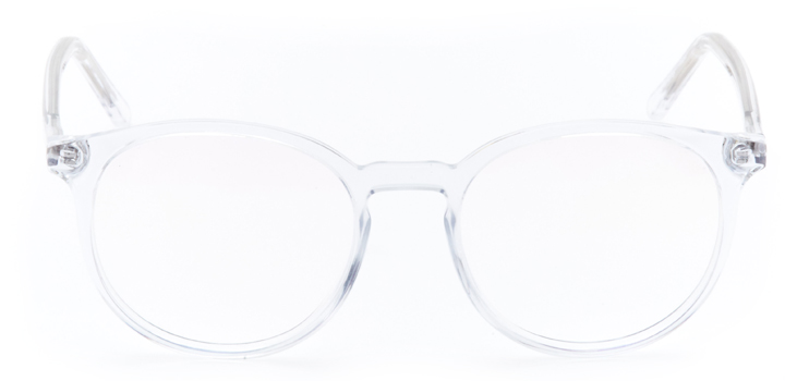 montgomery: round eyeglasses in crystal - front view