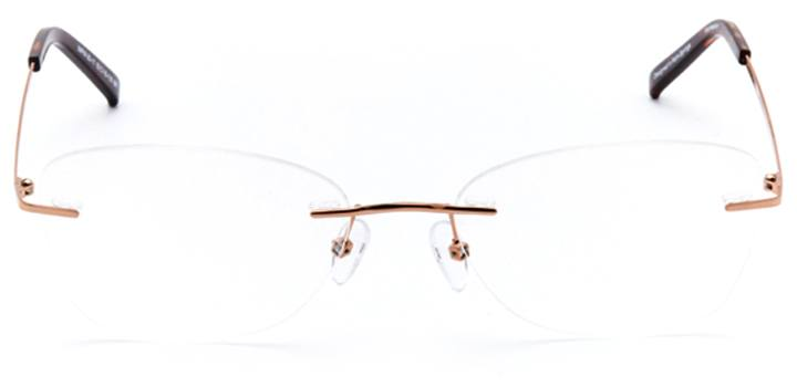 ammanford: women's butterfly eyeglasses in brown - front view