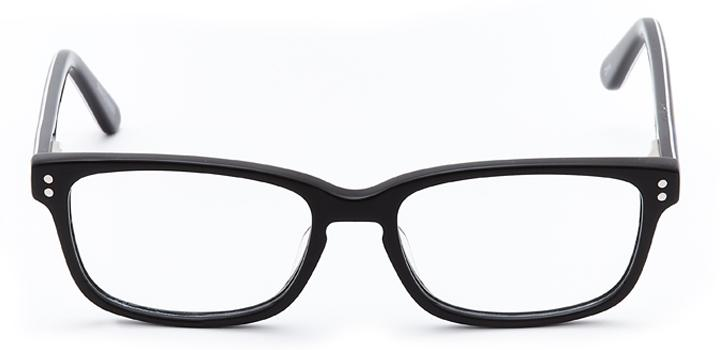 spider-man: boys's rectangle eyeglasses in black - front view