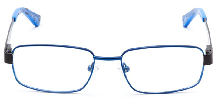 caped crusader: boys's rectangle eyeglasses in blue - front view