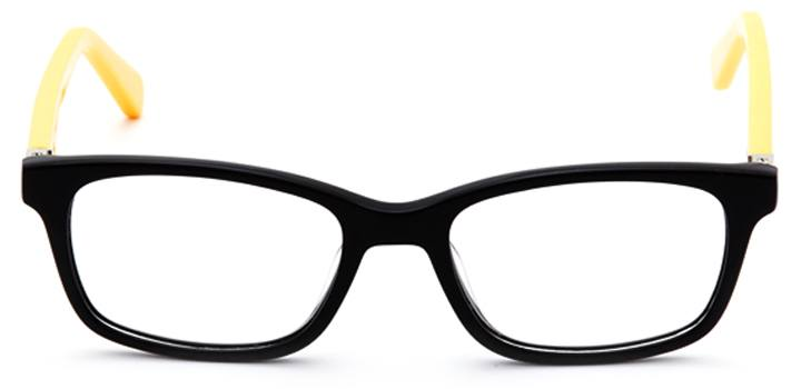 the dark knight: boys's rectangle eyeglasses in black - front view