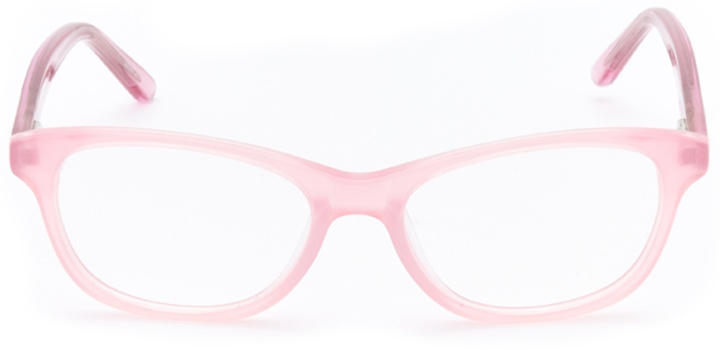 heart of gold: girls's cat eye eyeglasses in pink - front view