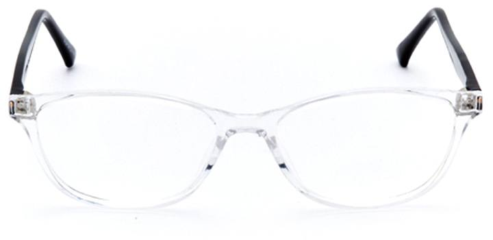 louvre: women's oval eyeglasses in crystal - front view