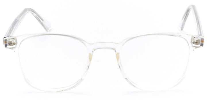 acropolis: square eyeglasses in crystal - front view
