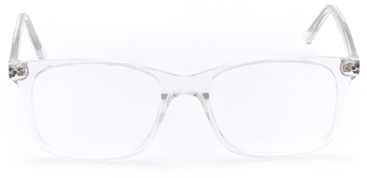 moulins: rectangular eyeglasses in crystal - front view