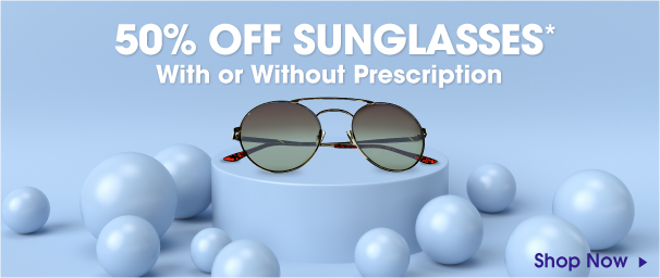 50% off sunglasses with or without prescription