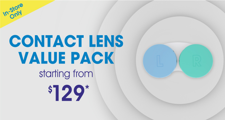 Contact Lens Value Pack for $129*